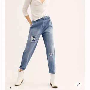 Free People We The Free Down To Earth Patched Jean